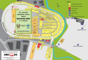 Načrt sejmišča na Kmetijsko obrtnem sejmu Komenda 2021